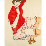 egon-schiele-wally-in-red-blouse-with-raised-knees-1913